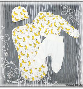 Нарядный сет для новорожденных Бананы