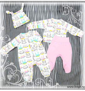Фото Нарядный сет для новорожденных девочек Зайка