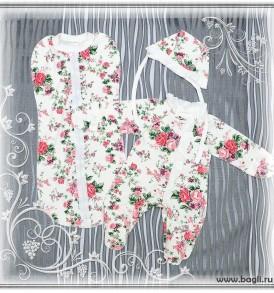 Сет на выписку для новорожденных девочек Розомания