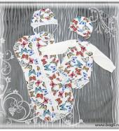 Сет для новорожденных девочек Бабочки