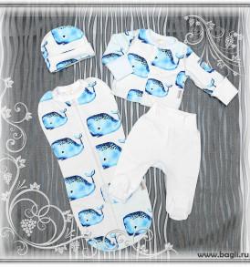 Фото Нарядный сет для новорожденных Синее Море