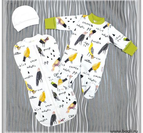 Фото Сет на выписку для новорожденных Чик-Чирик
