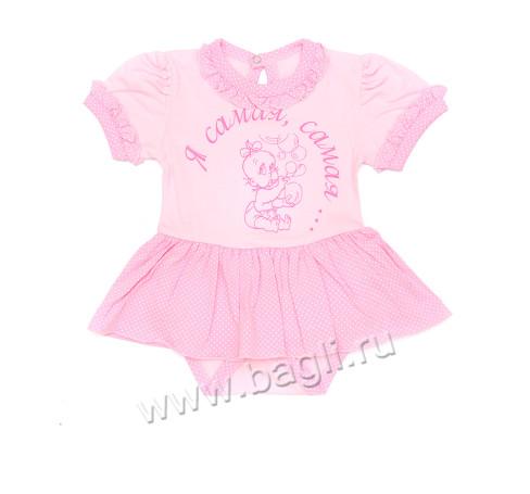 Фото Летнее боди-платье Лапушка, розовый. Алиса