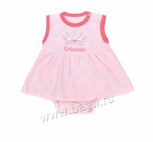 Фото Боди-платье Princess, розовый. Клеопатра