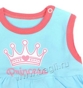 Фото Боди-платье Princess, голубой. Клеопатра