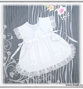Летнее платье Кристина белое - купить на Bagli.ru