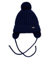 Фото Зимняя шапка для мальчиков Boy, темно-синий. Grans, Польша