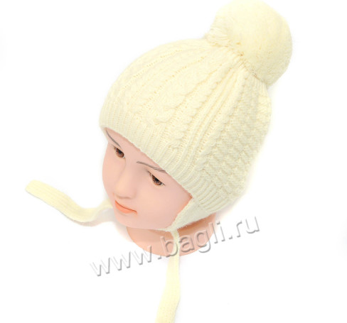 Фото Зимняя шапка крупной вязки, желтая. Grandcaps, Россия