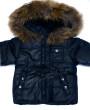 Фото Зимний комплект с натуральной опушкой, синий. Pikolino