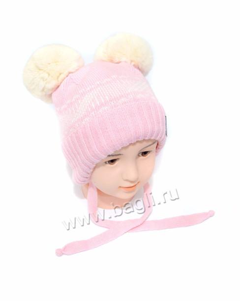 Фото Зимняя шапка Шалунья розовая. Prikinder