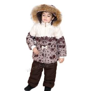 Фото Мембранный костюм с натуральной опушкой Алисия. Алюша
