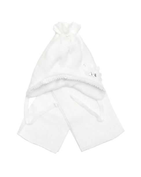 Фото Зимняя шапка для девочки Лилия, белый. Grans