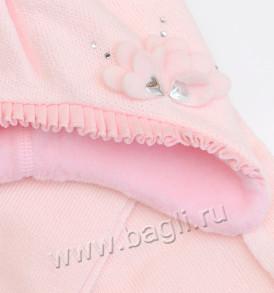 Фото Зимняя шапка для девочки Лилия, светло-розовый. Grans