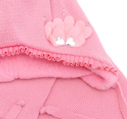 Фото Зимняя шапка для девочки Лилия, розовый. Grans
