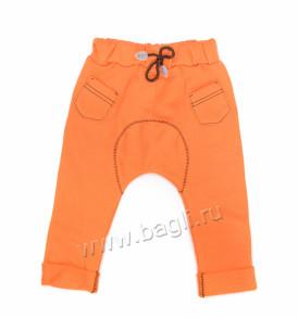Фото Брюки трикотажные Фокс оранжевые, Клео