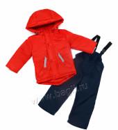 Фото Демисезонный костюм для мальчика Boom красный. Lapland