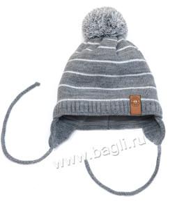 Фото Зимняя шапка для мальчиков Leader серый. Grans, Польша