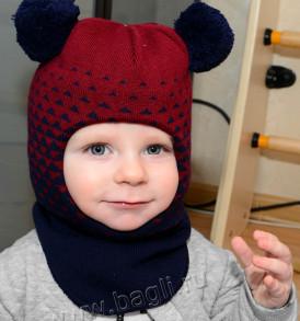 Фото Зимний шлем Prikinder Ромбики. Размер 48-50