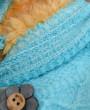 Фото Варежки двухслойные Цветочек в ассортименте