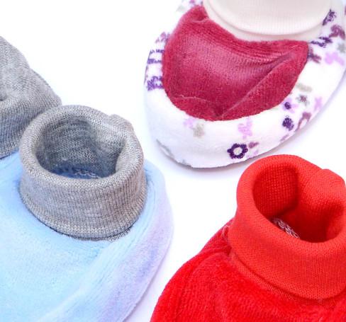 Фото Пинетки для новорожденных велюровые Baby Boom