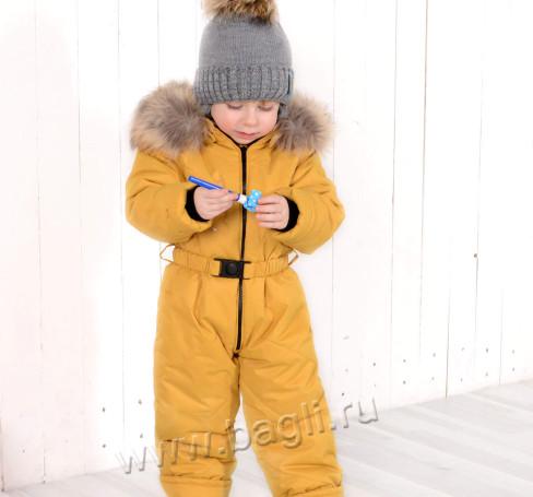Фото Мембранный комбинезон LT for kids горчичный, Беларусь