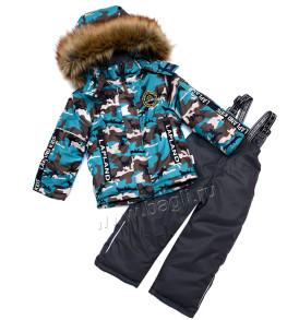 Фото Зимний комплект для мальчика Камуфляж, Lapland