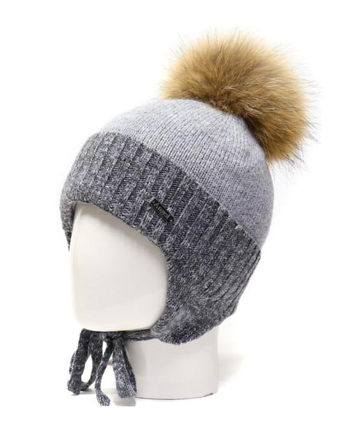 Фото Шерстяная шапка на изософте Ocean Angel светло-серый