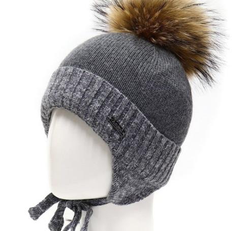 Фото Шерстяная шапка на изософте Ocean Angel серый