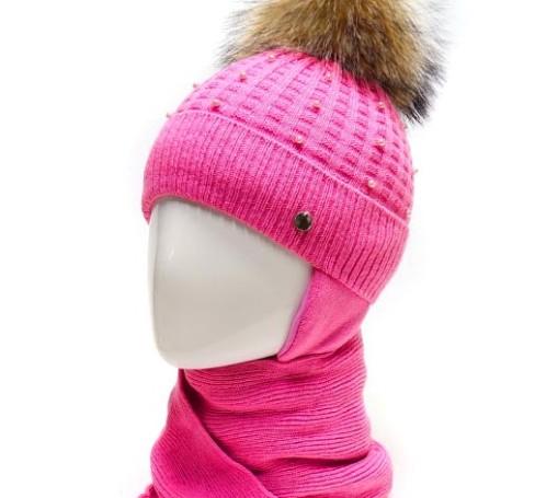 Фото Зимняя шапка с шарфом Мэри Agbo