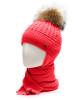 Фото Зимняя шерстяная шапка с шарфом Agbo Польша