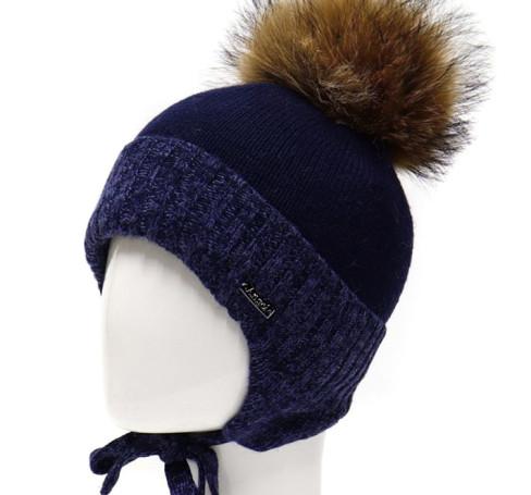 Фото Шерстяная шапка на изософте Ocean Angel синяя