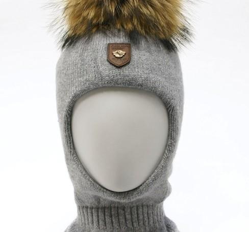 Фото Шерстяной шлем на изософте Ocean Angel светло-серый