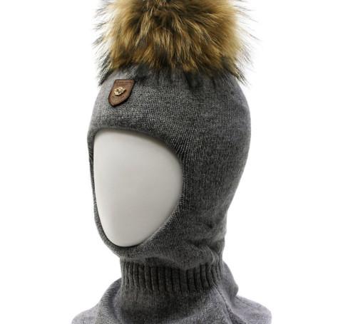 Фото Шерстяной шлем на изософте Ocean Angel темно-серый