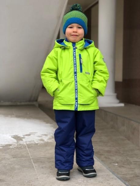 Фото Мембранный костюм для мальчика Lapland салатовый