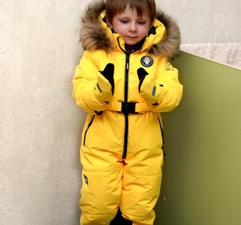 Фото Зимний комбинезон Егорка Diamond желтый