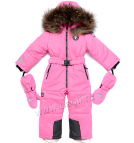 Фото Зимний комбинезон Егорка Diamond розовый