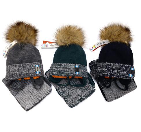 Фото Зимняя шапка с шарфом Barbaras Польша