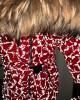 Фото Мембранный светоотражающий комбинезон Пиколино малиновый